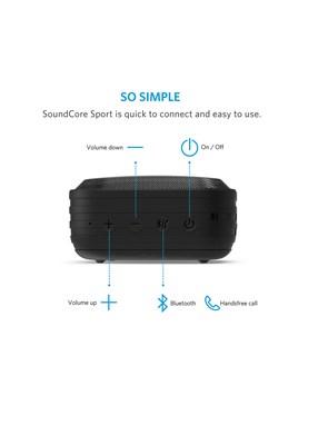 ANKER - Caixa de Som Portátil Black 3 W - Bluetooth