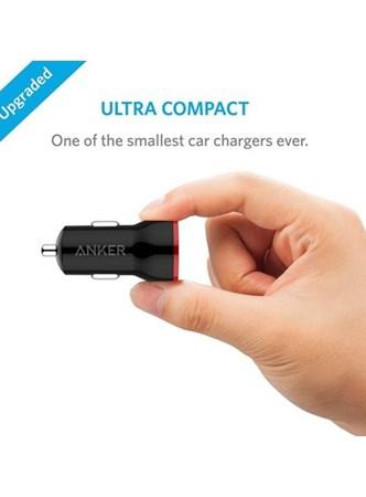 ANKER - Dual USB - Carregador Veicular de Celulares e Tablets