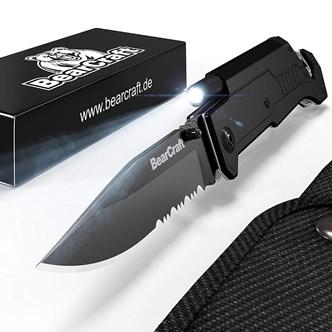 BEARCRAFT - CANIVETE OUTDOOR SURVIVAL POCKET KNIFE COM LANTERNA LED