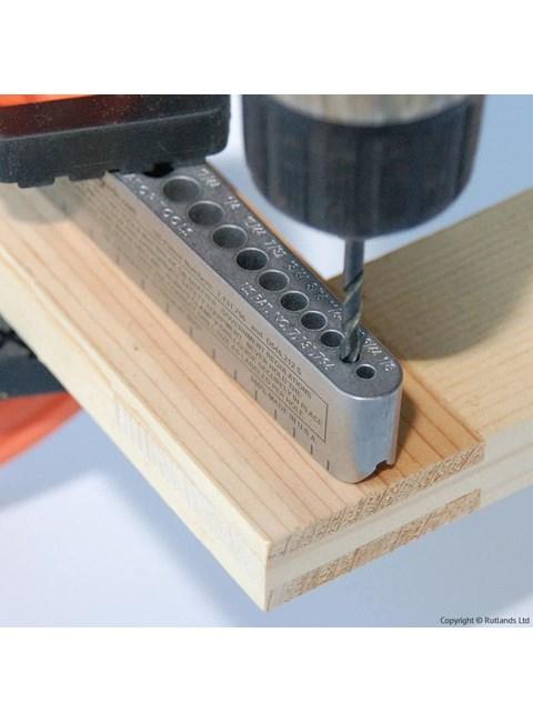 BIG GATOR - Guia de Furação Métrico com 17 medidas
