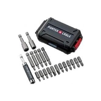 Conjunto com 20 bits Porter Cable