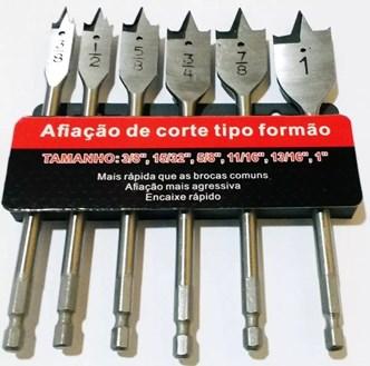 CTPOHR – STRONG – Brocas Chatas Para Madeira Com 6 peças