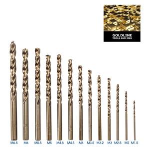CTPOHR - STRONG - Jogo com 13 Brocas para Metal, em Titanio, de 1.5 a 6.5mm
