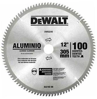 DEWALT - SERRA DE VÍDEA PARA ALUMINIO 12 COM 100 DENTES - DW03240