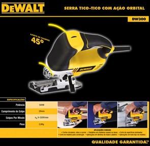 DEWALT - SERRA TICO TICO 500W VELOCIDADE VARIÁVEL E LUZ LED  - DW300