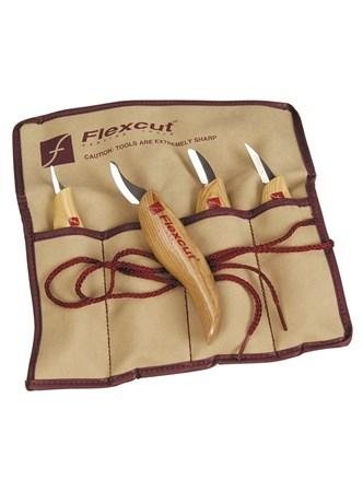 Flexcut - 4 Carving Knife Set - Conjunto com 4 Facas/Formões para Entalhe