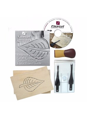 FLEXCUT -  BEGINNER 2-BLADE CRAFT CARVER SET - KIT PARA INICIANTES