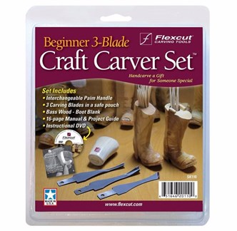 FLEXCUT -  BEGINNER 3-BLADE CRAFT CARVER SET - KIT BÁSICO DE ENTALHE