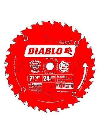 FREUD DIABLO - DISCO DE SERRA PARA FRAMING  - 24 DENTES - 7,25 POLEG. - D0724A
