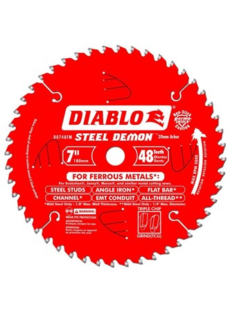 FREUD DIABLO - DISCO DE SERRA PARA METAL - 48 DENTES - 7 POLEG. 180 MM