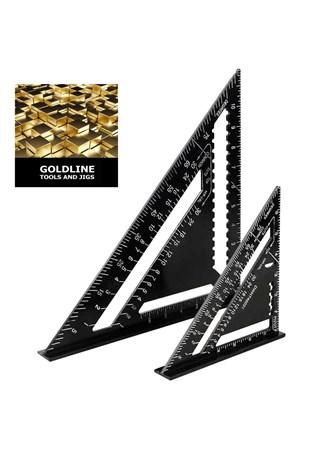 GOLDLINE - COMBO DE ESQUADROS TRIÂNGULOS