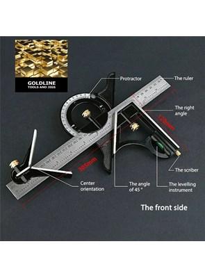 Goldline - Esquadro Combinado Profissional - 60 Cm