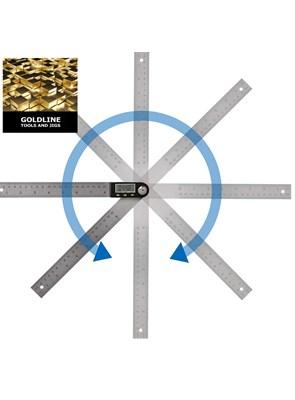 GOLDLINE - GONIÔMETRO - TRANSFERIDOR DIGITAL E RÉGUA