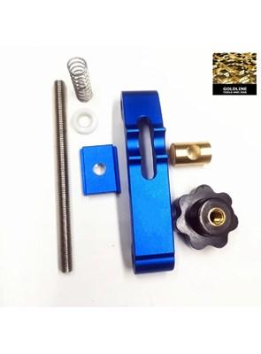 GOLDLINE - GRAMPO PARA T-TRACK EM ALUMÍNIO BLUE - 30MM