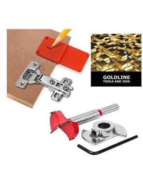 GOLDLINE - KIT PARA DOBRADIÇAS - 35 MM