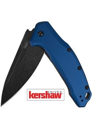 KERSHAW - CANIVETE LINK BLUE ALUMINUM BLACKWASH - 1776NBBW