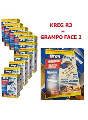 KREG - GABARITO COM GRAMPO PARA FURAÇÃO - POCKET HOLE JIG - KREG R3