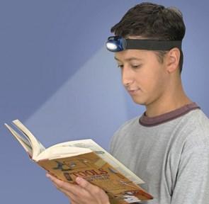 Lanterna para cabeça com 5 Leds - 45 graus