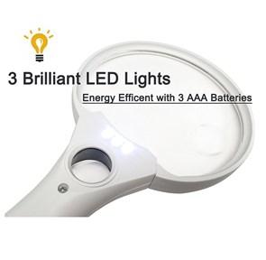 LUPA COM 3 LEDS - COM AUMENTO DE 3X, 4.5X e 25X