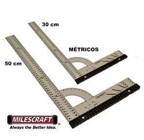 MILESCRAFT - COMBO DE ESQUADROS UNIVERSAIS - 30 e 50 CM - MÉTRICOS