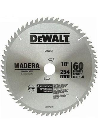 SERRA DE VÍDEA DEWALT PARA MADEIRA 10 COM 60 DENTES - DW03120