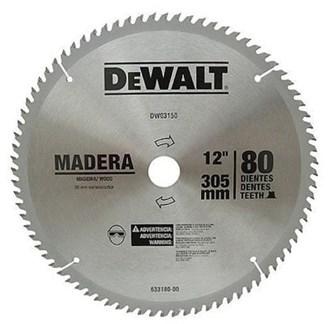 SERRA DE VÍDEA DEWALT PARA MADEIRA 12 COM 80 DENTES - DW03150