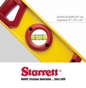 STARRETT - NÍVEL ALUMINIO - 300, 350, 400, 500 e 600 MM