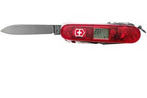VICTORINOX - Canivete Expedition Kit Vermelho Translúcido 18 Funções, Bainha e Bússola com 3 Funções