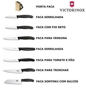 VICTORINOX - Conjunto SwissClassic com 8 Facas para Cozinha
