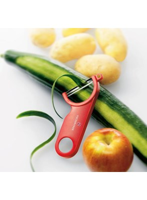 VICTORINOX - Descascador de Frutas e Legumes Vermelho - 7.6073
