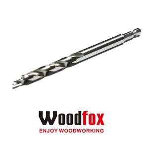WOODFOX - BROCA ESCALONADA DE 3/8 PARA POCKET HOLES COM ENCAIXE RÁPIDO