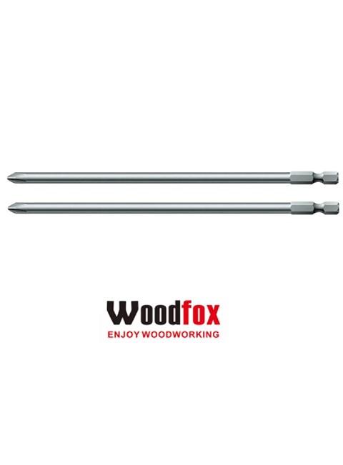 WOODFOX - JOGO DE PONTA PHILLIPS COM 2 BITS DE 6 POLEGADAS - 15 CM - PARA POCKETS