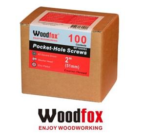 WOODFOX - PARAFUSOS PARA POCKET - 100 UNIDADES - ROSCA GROSSA - 2.0 POLEG.
