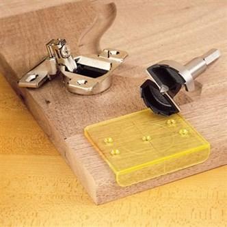 WoodRiver - Gabarito e Broca para Furação de Dobradiças 35 mm