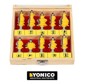 YONICO - CONJUNTO COM 10 FRESAS ARQUITETURAIS