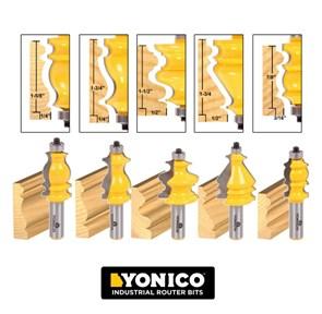 YONICO - CONJUNTO COM 5 FRESAS ARQUITETURAIS