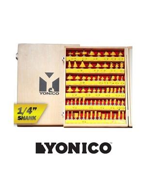 YONICO - CONJUNTO COM 70 FRESAS COM QUALIDADE PROFISSIONAL